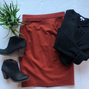 Vintage Wool And Cashmere High Waisted Skirt